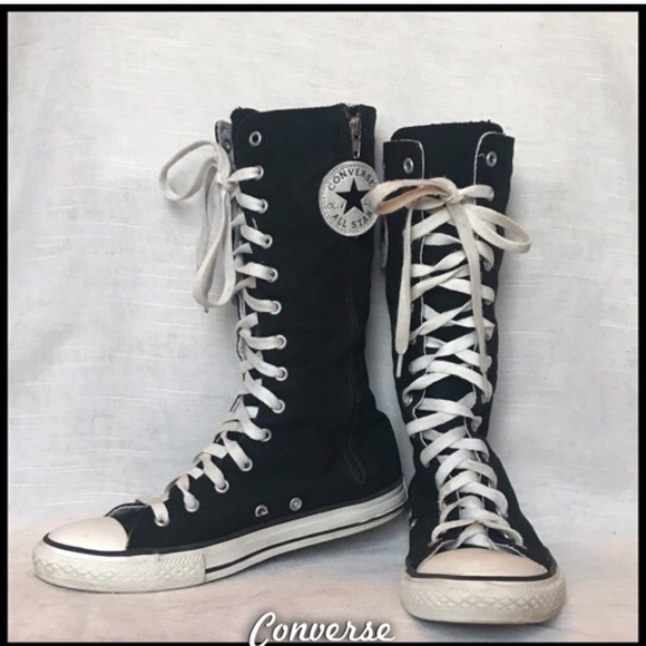 eb12bf9ac7b3a8 Converse Shoes - Adorable converse mid-calf high tops!